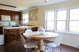 a soft blue gray paint color for the kitchen young house love