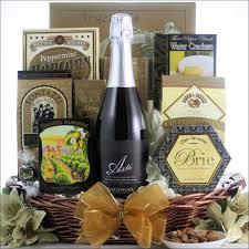 cheese and wine gift baskets bartenura asti spumante kosher sparkling wine champagne gift basket