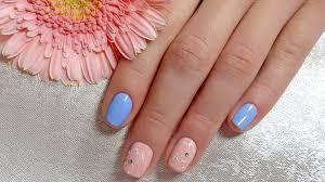 spring nail art on short nails tutorial video using nail