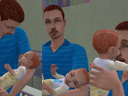 infant hair mod the sims maxis default skins with infant hair