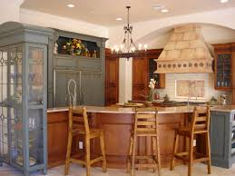 Cream Color Kitchen Cabinets Excellent Two Tone Style Kitchen With Cream Color Wooden Kitchen