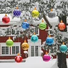 Outdoor Christmas Decor On Clearance by Outdoor Lighted Christmas Balls Home Decorating Interior Design