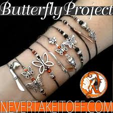 the butterfly project ntio bracelet never take it merch