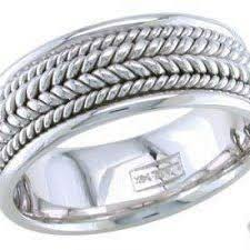 braided wedding band 14k white gold mens 8mm braided wedding band knrinc on