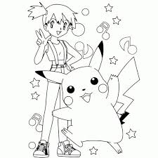 free printable pikachu coloring pages kids