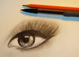 how to draw a realistic eye with makeup youtube