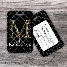 personalized luggage tag customized bag tag by butterflyghost