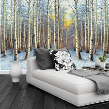 Wall Mural Sunrise In A Forest Wall Paper Self Adhesive Compare Prices On Sunset Wallpaper Murals Online Shopping Buy Low