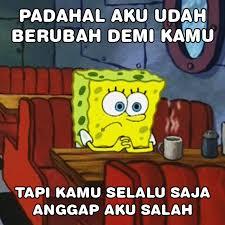 Meme Comic Indonesia Spongebob - gambar meme lucu spongebob galau gambar lucu terbaru