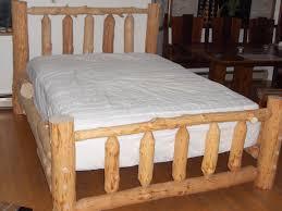 log bed reclaimed wood work