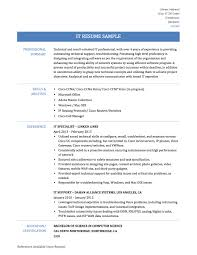 Technical Experience Resume Sample by Information Technology Resume 22 Technical Resume Examples Field