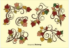 autumn leaf vector ornaments free vector stock
