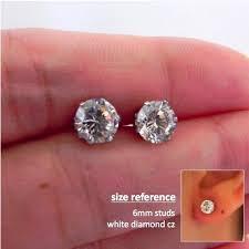 what size diamond earrings should i buy promotion mens stud earrings one carat diamond by 360jewels