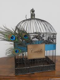 peacocks home decor wedding card box peacock birdcage wedding card holder wedding