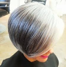 how to grow out short stacked hair beautiful silvered transitioning hair i am praying that mine grows