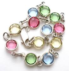 bracelet color crystal images Vintage multi color crystal bracelet 7 5 quot the jewelry lady 39 s store JPG