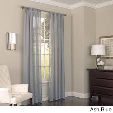 Eclipse Nursery Curtains Eclipse Chelsea Uv Light Filtering Window Sheer Curtain Panel