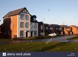 starter homes estate of starter homes in kirkby liverpool uk stock photo