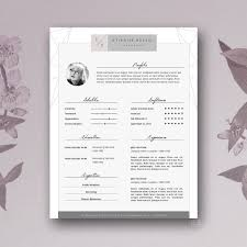 Word Resumes Templates Stylish Resume Template 4 Ms Word Resume Templates Creative Market