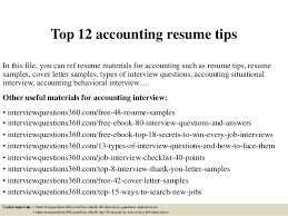 Accountant Resume Samples by Top 12 Accounting Resume Tips 1 638 Jpg Cb U003d1427559838