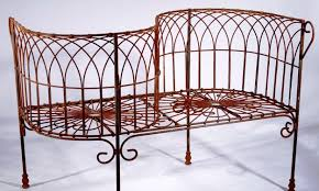 wrought iron french courting bench metal seating