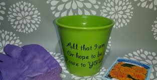 personalized flower pot s day flower pot s day gift personalized flower p
