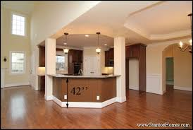 kitchen island bar height standard kitchen counter height for raleigh new homes