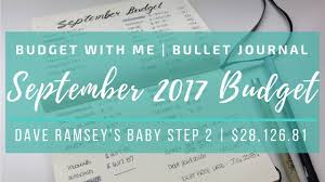 Dave Ramsey Budget Spreadsheet Excel Free Budget With Me In My Bullet Journal September 2017 Dave Ramsey