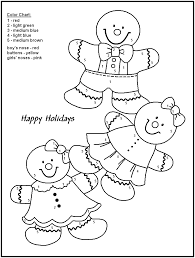christmas color number pages kids coloring