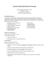 Objective Resume Customer Service 100 Sample Resume Customer Service Supervisor Resume