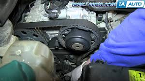 how to install replace engine timing belt volvo l5 2 4l youtube