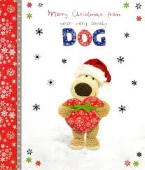 boofle happy christmas from the dog greeting card cards love kates