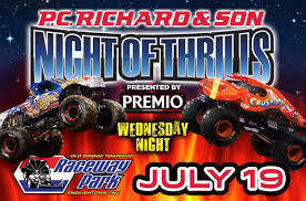 monster truck show nj raceway park raceway park night of thrills magic 98 3 fm