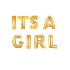 gold letter balloons its a girl gold letter balloons its a girl balloon banner gold