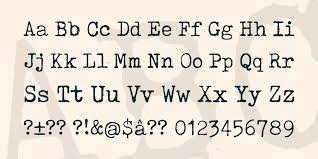 tox typewriter font 1001 fonts