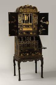 export bureau antique export lacquer bureau cabinet in three sections c