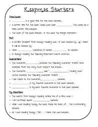 best 25 reading response journals ideas on pinterest