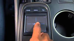 lexus nx kuni remote touchpad controller adjust feedback force youtube
