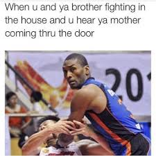 Fighting Memes - when you and ya brother fighting in the house and u hear ya mother