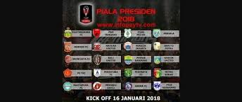 Jadwal Piala Presiden 2018 Jadwal Lengkap Piala Presiden 2018 Info Pay Tv April 2018