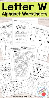 letter w worksheets alphabet series easy peasy learners