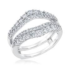 double engagement rings images Ellaura embrace double diamond ring guard 1ctw item 19569805 jpg