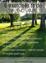 6 exercises to do in the park