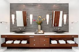 Tile Accent Wall Bathroom Tile Accent Wall Bathroom Contemporary With Gray Tile Wall Black Sink