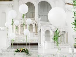 large white balloons garden inspired vibiana wedding joanie cale green
