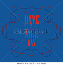 have nice day inscription greeting card stock vector 425215597