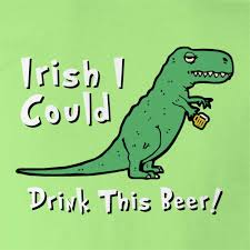 funny beer cartoon t rex irish i could drink this beer womens t shirt dinosaur