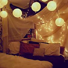 Orange Solar String Lights by Bedroom Add Warmth And Style To Your Home With String Lights For