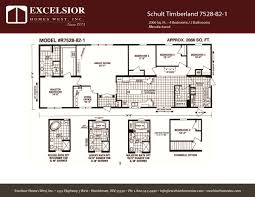 schult modular home floor plans schult timberland 7528 82 1 excelsior homes west inc