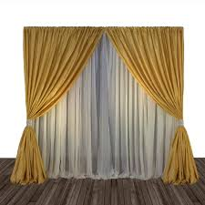2 Tone Curtains Economy 1 Panel 2 Tone Curtain Backdrop 8 Ft Or 8 10 Ft
